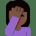 🤦🏿 person facepalming: dark skin tone Emoji on Twitter Platform