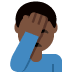 🤦🏿‍♂️ man facepalming: dark skin tone Emoji on Twitter Platform