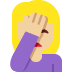 🤦🏼‍♀️ woman facepalming: medium-light skin tone Emoji on Twitter Platform