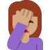 🤦🏽‍♀️ woman facepalming: medium skin tone Emoji on Twitter Platform