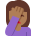 🤦🏾‍♀️ woman facepalming: medium-dark skin tone Emoji on Twitter Platform