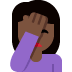 🤦🏿‍♀️ woman facepalming: dark skin tone Emoji on Twitter Platform
