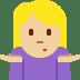 🤷🏼 person shrugging: medium-light skin tone Emoji on Twitter Platform