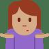 🤷🏽 person shrugging: medium skin tone Emoji on Twitter Platform