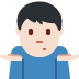 🤷🏻♂️ man shrugging: light skin tone Emoji on Twitter Platform