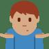 🤷🏽♂️ man shrugging: medium skin tone Emoji on Twitter Platform