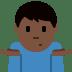 🤷🏿♂️ man shrugging: dark skin tone Emoji on Twitter Platform