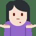 🤷🏻♀️ woman shrugging: light skin tone Emoji on Twitter Platform