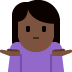 🤷🏿‍♀️ woman shrugging: dark skin tone Emoji on Twitter Platform