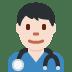 👨🏻⚕️ man health worker: light skin tone Emoji on Twitter Platform