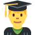 👨‍🎓 Male Student Emoji on Twitter Platform