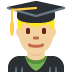 👨🏼🎓 man student: medium-light skin tone Emoji on Twitter Platform