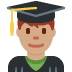 👨🏽‍🎓 Medium Skin Tone Male Student Emoji on Twitter Platform