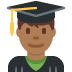 👨🏾‍🎓 man student: medium-dark skin tone Emoji on Twitter Platform