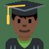 👨🏿🎓 man student: dark skin tone Emoji on Twitter Platform