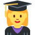 👩‍🎓 woman student Emoji on Twitter Platform