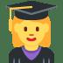 👩🎓 woman student Emoji on Twitter Platform