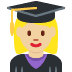 👩🏼‍🎓 woman student: medium-light skin tone Emoji on Twitter Platform