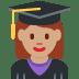 👩🏽🎓 woman student: medium skin tone Emoji on Twitter Platform