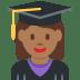 👩🏾🎓 woman student: medium-dark skin tone Emoji on Twitter Platform