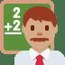 👨🏽🏫 man teacher: medium skin tone Emoji on Twitter Platform