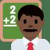 👨🏿🏫 man teacher: dark skin tone Emoji on Twitter Platform