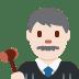 👨🏻⚖️ man judge: light skin tone Emoji on Twitter Platform