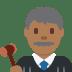 👨🏾⚖️ man judge: medium-dark skin tone Emoji on Twitter Platform