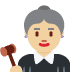 👩🏼‍⚖️ woman judge: medium-light skin tone Emoji on Twitter Platform