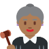 👩🏾⚖️ Medium Dark Skin Tone Female Judge Emoji on Twitter Platform