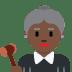 👩🏿⚖️ woman judge: dark skin tone Emoji on Twitter Platform
