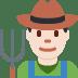👨🏻🌾 man farmer: light skin tone Emoji on Twitter Platform