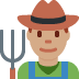 👨🏽‍🌾 man farmer: medium skin tone Emoji on Twitter Platform