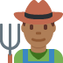 👨🏾‍🌾 man farmer: medium-dark skin tone Emoji on Twitter Platform