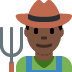 👨🏿‍🌾 man farmer: dark skin tone Emoji on Twitter Platform