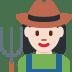 👩🏻🌾 woman farmer: light skin tone Emoji on Twitter Platform