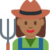👩🏾‍🌾 woman farmer: medium-dark skin tone Emoji on Twitter Platform