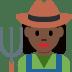 👩🏿🌾 woman farmer: dark skin tone Emoji on Twitter Platform