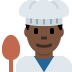 👨🏿‍🍳 man cook: dark skin tone Emoji on Twitter Platform