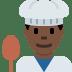 👨🏿🍳 Dark Skin Tone Male Chef Emoji on Twitter Platform