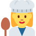 👩‍🍳 woman cook Emoji on Twitter Platform
