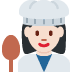 👩🏻‍🍳 woman cook: light skin tone Emoji on Twitter Platform