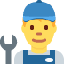 👨🔧 man mechanic Emoji on Twitter Platform