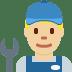 👨🏼🔧 Medium Light Skin Tone Male Mechanic Emoji on Twitter Platform