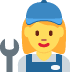 👩‍🔧 woman mechanic Emoji on Twitter Platform