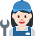 👩🏻🔧 woman mechanic: light skin tone Emoji on Twitter Platform