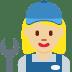 👩🏼🔧 woman mechanic: medium-light skin tone Emoji on Twitter Platform