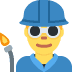 👨‍🏭 man factory worker Emoji on Twitter Platform