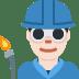 👨🏻🏭 man factory worker: light skin tone Emoji on Twitter Platform