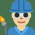 👨🏼🏭 man factory worker: medium-light skin tone Emoji on Twitter Platform